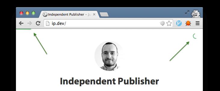 Independent Publisher Progress Bar