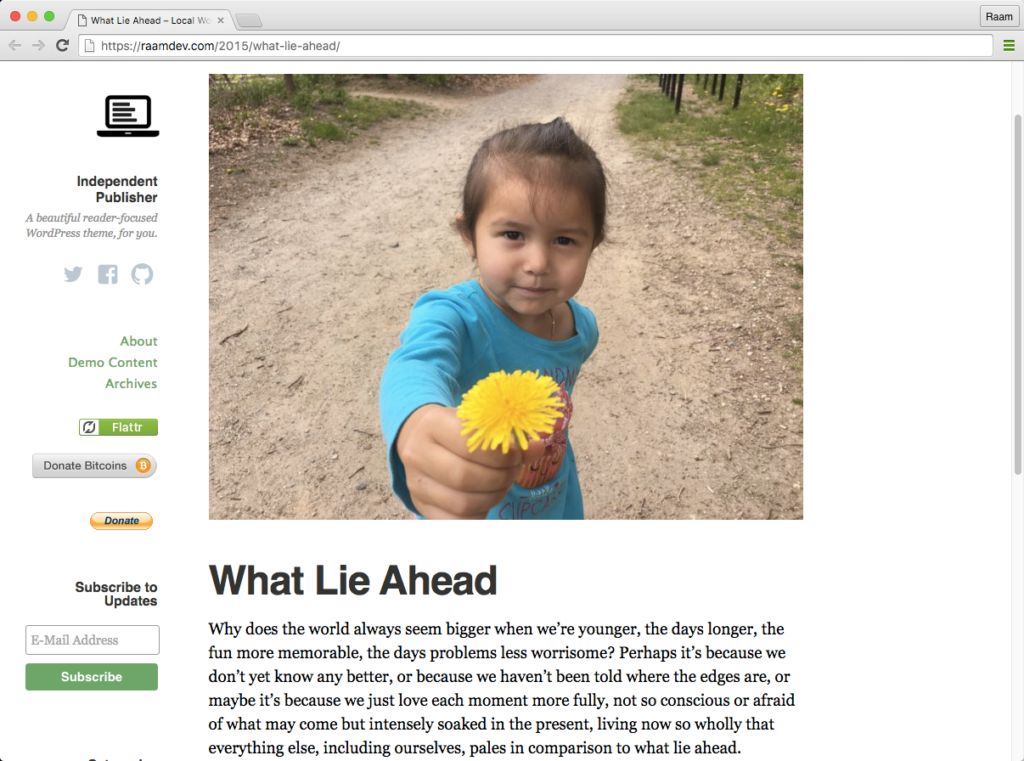 Independent Publisher 1.7: Featured Images for Pages